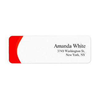 Red & White Plain Elegant Minimalist Modern