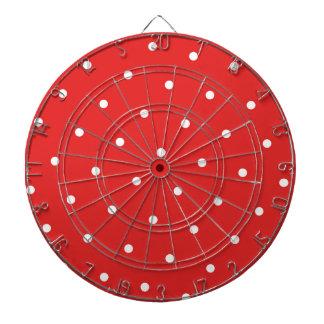 Red/White Polka dot Dartboard