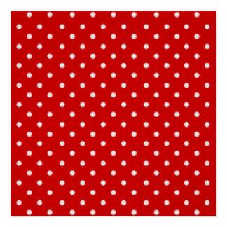 Red White Polka Dot Pattern Print Design