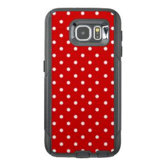 Red White Polka Dot Pattern Print Design OtterBox Samsung Galaxy S6 Case