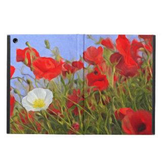 Red & White Poppy iPad Case