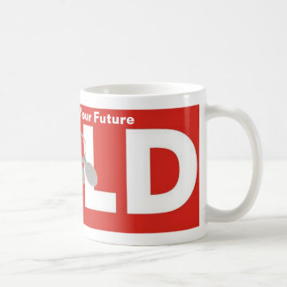 Red White Real Estate Agent Sold Sign Coffee Cup