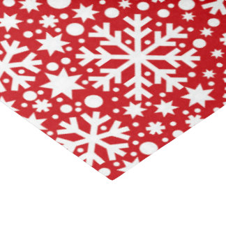Red white snowflake Christmas Holiday tissue Tissue Paper