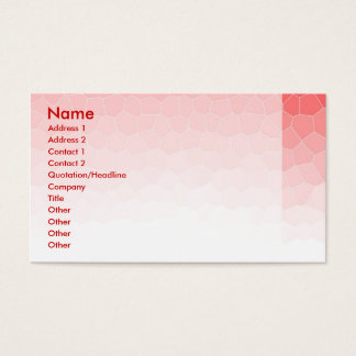 Red white stained glass business card