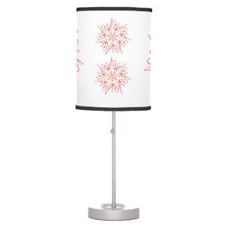 Red, White Star Design Table Lamp