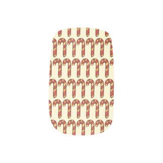 Red White Stripe Christmas Candy Cane Holiday Xmas Minx Nail Art