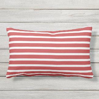Red White Stripe Classic Nautical Design Pillows