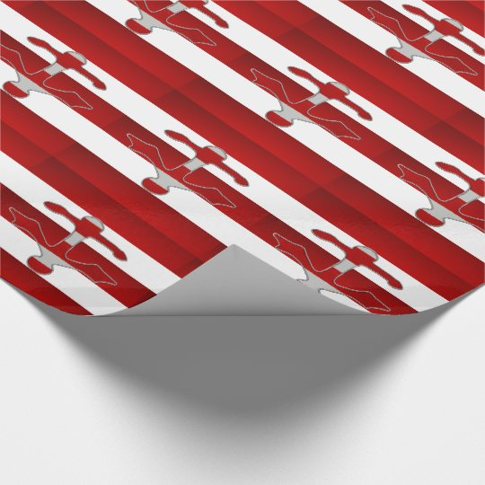 Red White Striped Anchor