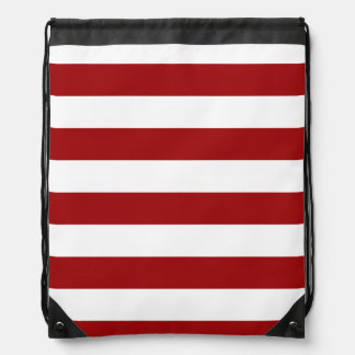 Red & White Striped Drawstring Bag