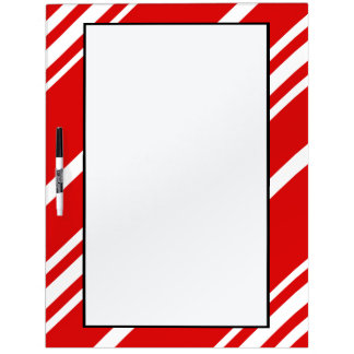Red White Stripes Dry Erase Board