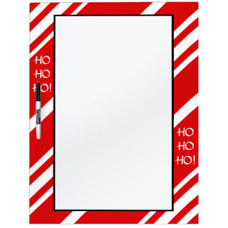 Red White Stripes HO HO HO! Dry Erase Board