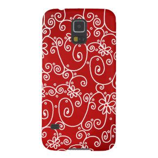 Red White Swirl Samsung Galaxy S5 Phone Case
