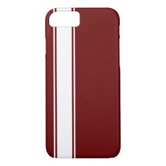 Red & White Team Jersey Stripe iPhone 7 Case
