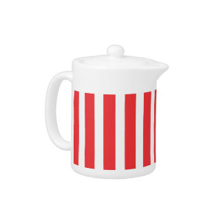 Red White Teapot