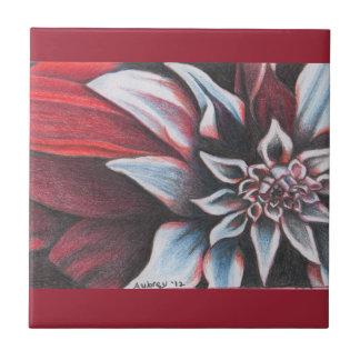 Red & White Winter Flower Tiles