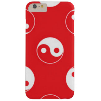 Red & White Yin Yang Pattern Design Barely There iPhone 6 Plus Case