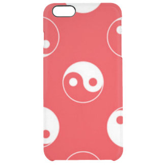 Red & White Yin Yang Pattern Design Clear iPhone 6 Plus Case