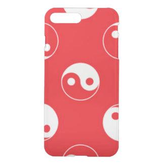 Red & White Yin Yang Pattern Design iPhone 7 Plus Case