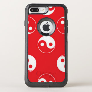 Red & White Yin Yang Pattern Design OtterBox Commuter iPhone 8 Plus/7 Plus Case