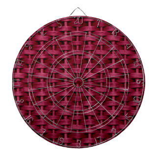 Red wicker art graphic design dart boards