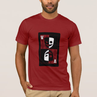 Red Wildcard Black and White Faces Graphic Tee