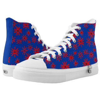 Red Windmills High Tops