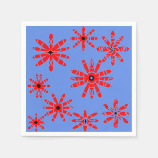 Red Windmills Paper Napkin