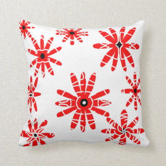 Red Windmills Throw Pillow