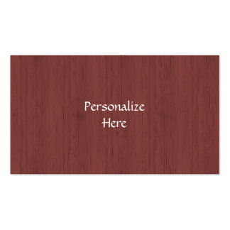 Red Wine Bamboo Look Wood Grain Business Card Templates
