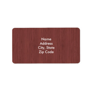 Red Wine Bamboo Wood Grain Look