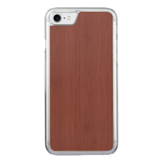 Red Wine Bamboo Wood Grain Look Carved iPhone 7 Case