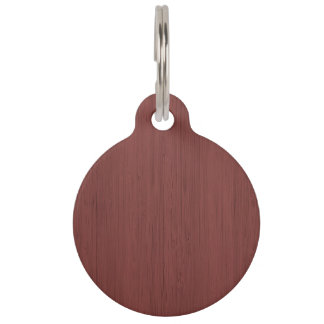 Red Wine Bamboo Wood Grain Look Pet Nametag