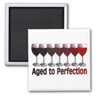 Red Wine Birthday Square Magnet