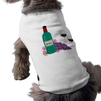 RED WINE BOTTLE, GLASSES AND GRAPES PET CLOTHES