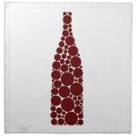 Red Wine Bottle Printed Napkin
