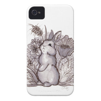Red Wine Bunny for iPhone 4 iPhone 4 Case-Mate Cases