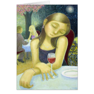 Red Wine - by Lora Shelley Card