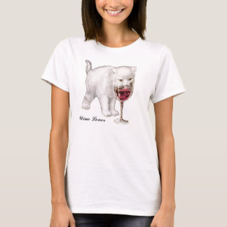 Red Wine Cat Lover T-Shirt