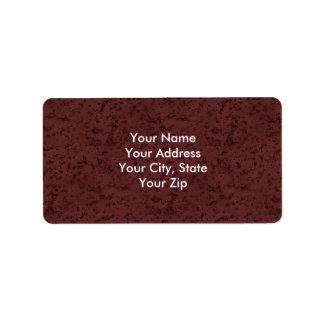 Red Wine Cork Look Wood Grain Address Label