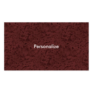 Red Wine Cork Look Wood Grain Pack Of Standard Business Cards