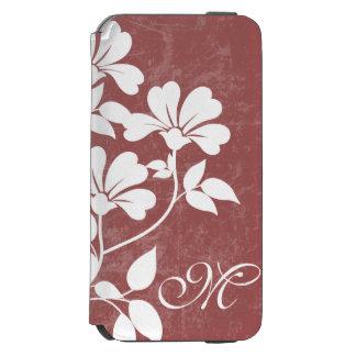 Red Wine Flower Initial Phone Folio Case Incipio Watson™ iPhone 6 Wallet Case