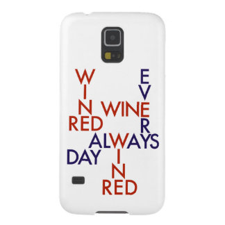 Red wine galaxy s5 covers