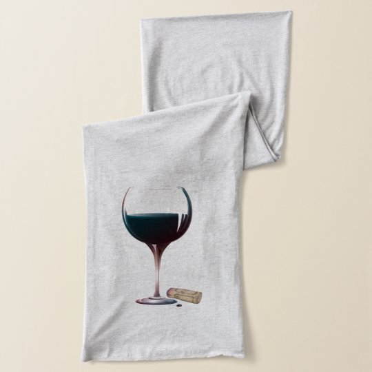 Red Wine Glass Art Scarf