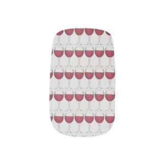Red Wine Glass Bottle Winery Merlot Print Nail Art