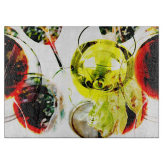 Red wine glass modern photo collage boards