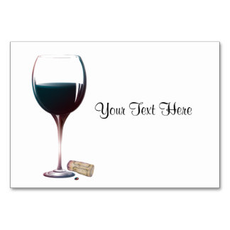 Red Wine Glass Table Card