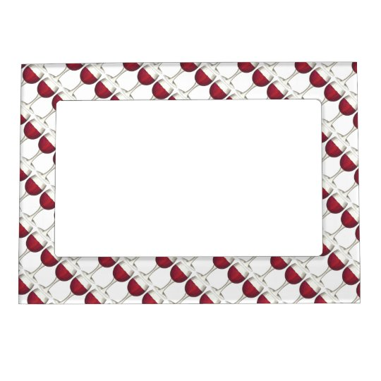 Red Wine Glass Winery Merlot Gift Picture Frame Picture Frame Magnet