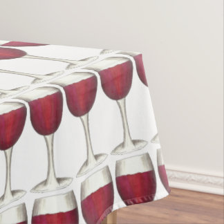 Red Wine Glass Winery Merlot Wine Pattern Print Tablecloth