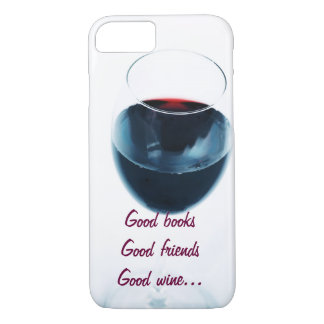 Red wine glass with quote iPhone 8/7 case