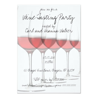 Red Wine Glasses Party Invitations
